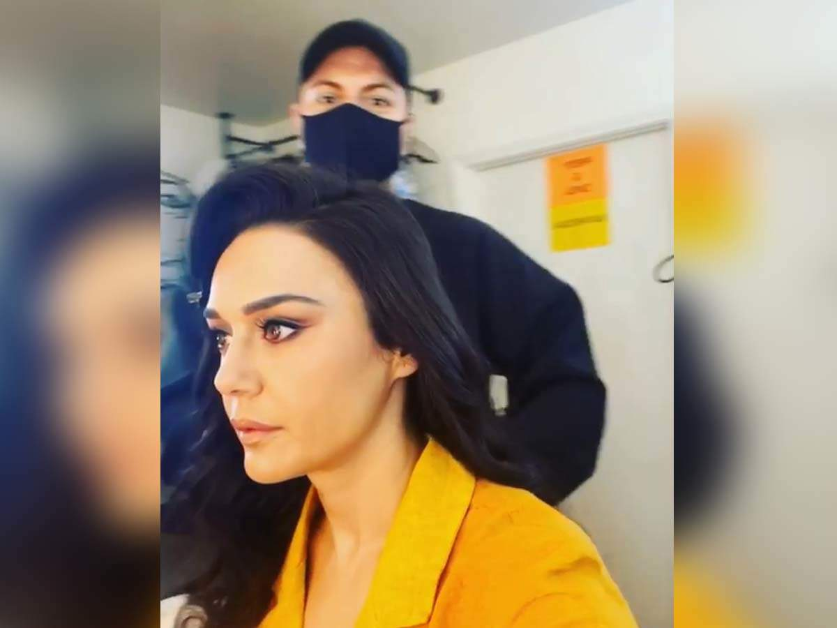 Preity shares a BTS video of her latest shoot