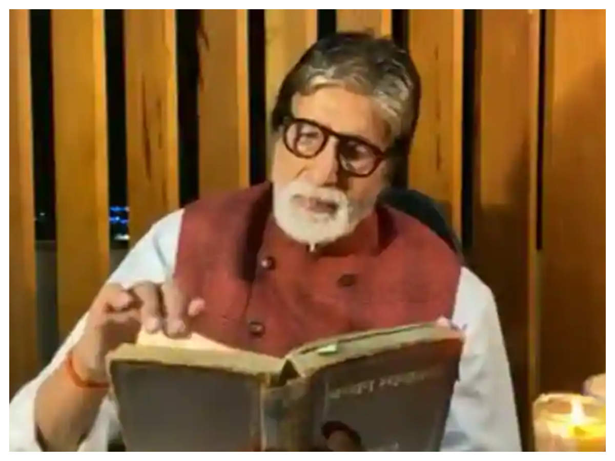 Big B shares a video from his COVID-19 ward