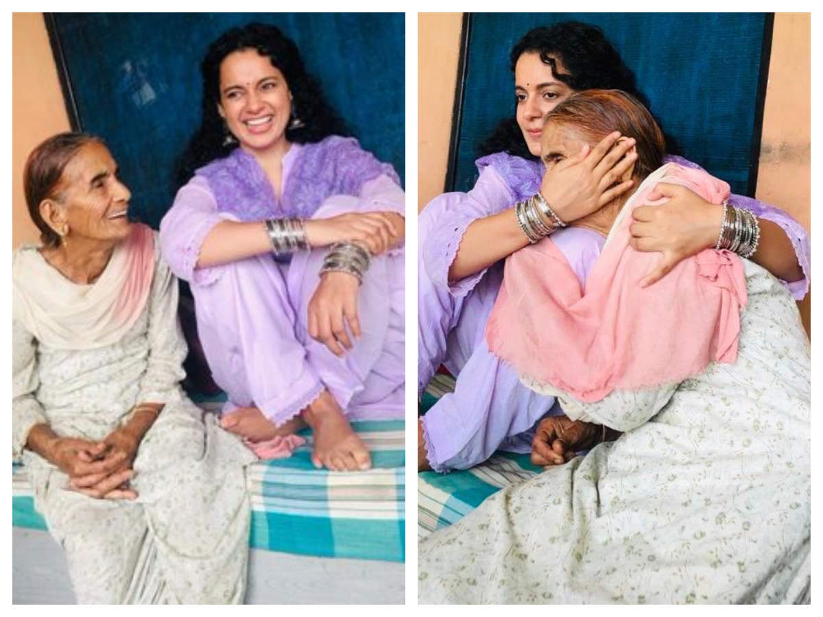 Pictures of Kangana with her grandmother