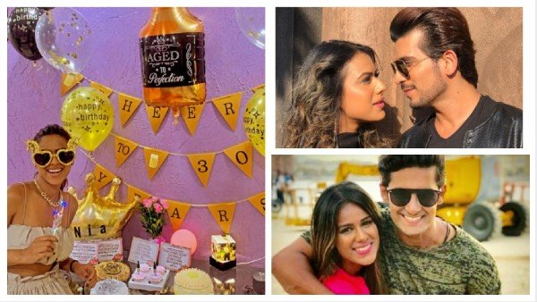Nia Sharma Celebrates Her 30th Birthday With Brother Vinay; Cuts 18 Cakes (PICS)