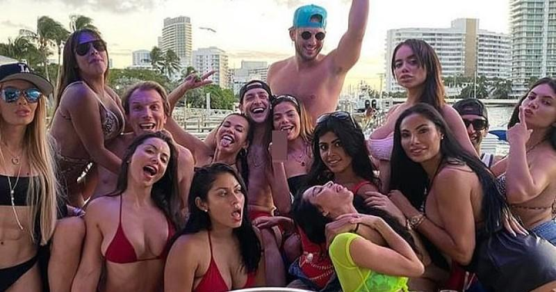 Doctor Who Demanded Mandatory Mask Law Pictured Partying Maskless On Boat Surrounded By Bikini-Clad Women