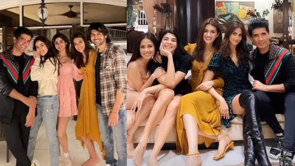 Kartik Aaryan, Janhvi Kapoor, Kriti Sanon And Others Have A Gala Time At Manish Malhotra's Dinner Party