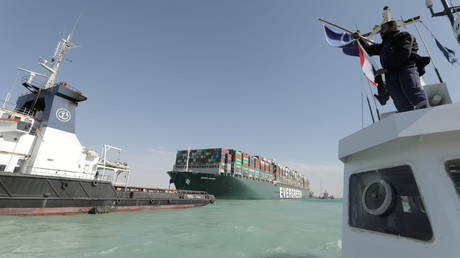 Suez Canal Authority considering expanding southern channel, chairman says in wake of Ever Given debacle