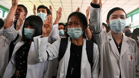 Security forces fire on protesting medical workers in Myanmar, leaving at least one dead – local media