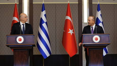 First high-level Greek-Turkish diplomatic talks in a year descend into verbal spat during news conference