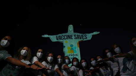 Christ the Redeemer statue lights up with a message: 'Vaccine Saves'