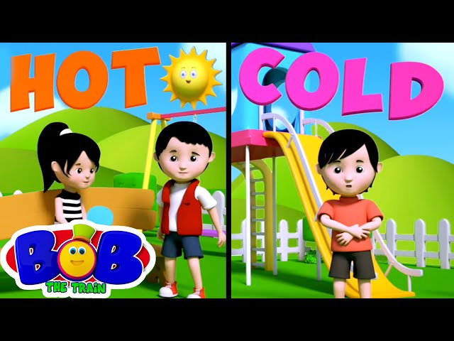 Opposite Song | Opposite Words | Learning Videos for Kids | Nursery Rhymes & Songs - Bob The Train