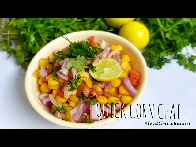 Sweet corn chaat at home | Easy corn recipe | Indian Chaat | Indian food | Corn recipes