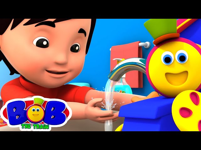 Wash Your Hands | Healthy Habits for Kids | Nursery Rhymes & Baby Songs by Bob The Train