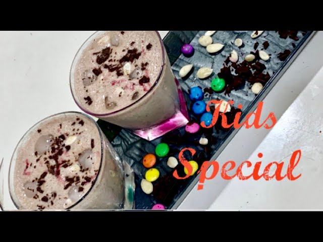Choco Banana Milkshake | Kids Special Recipe | मिल्कशेक | Breakfast Recipes | Indian Cooking |