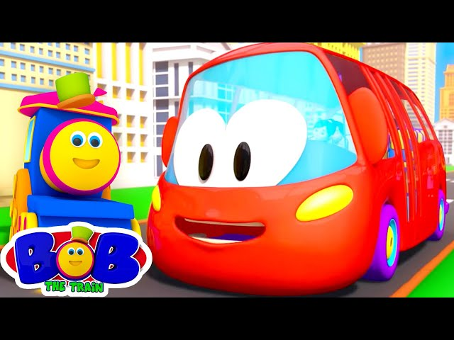 Red Wheels on the Bus | School Bus Song | Nursery Rhymes for Children | Kids Songs | Bob The Train