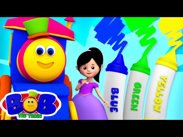 Crayons Color Song  | Nursery Rhymes & Learning Videos | Preschool Kids Songs by Bob The Train